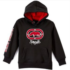 #57 Ecko Red Black Small Jackets Hoodie Sweater